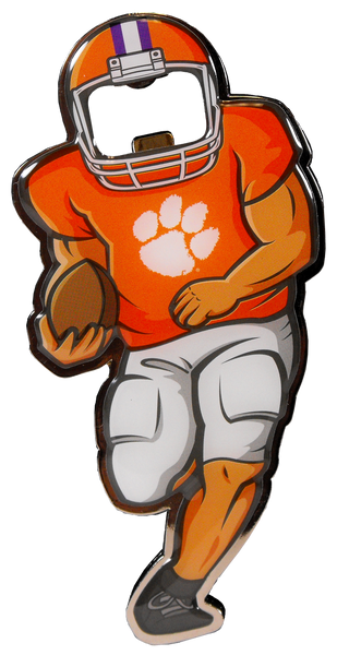 Clemson Football Player Magnetic Bottle Opener