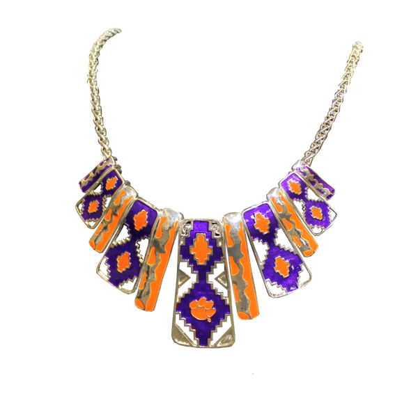 Clemson Aztec Necklace
