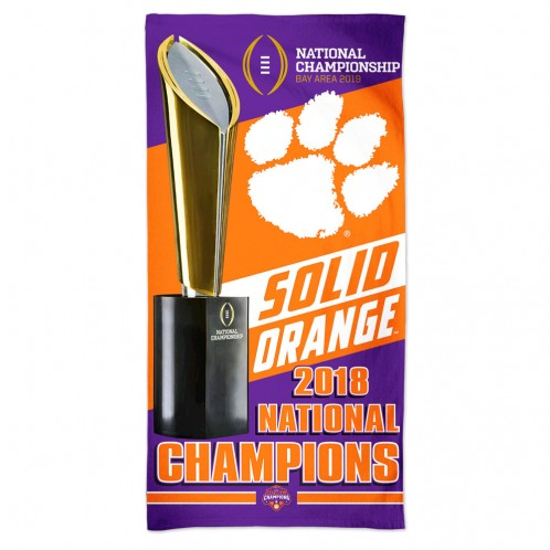 Clemson University 2018 National Championship Beach Towel