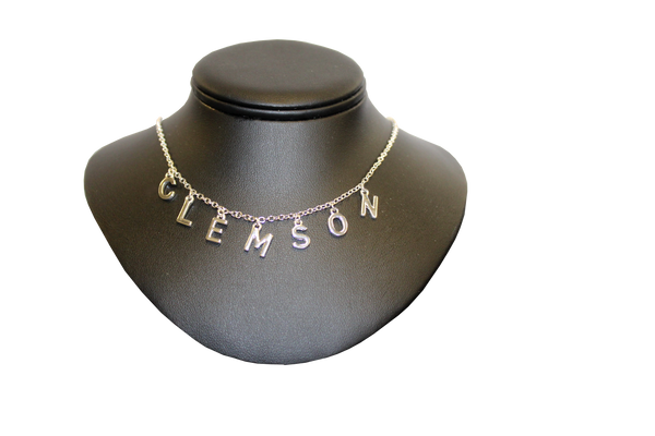 Clemson  C.L.E.M.S.O.N Necklace