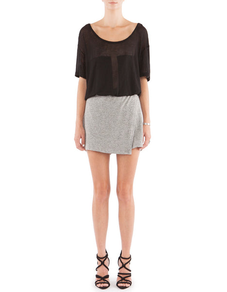 Irene Shorts Melange Black