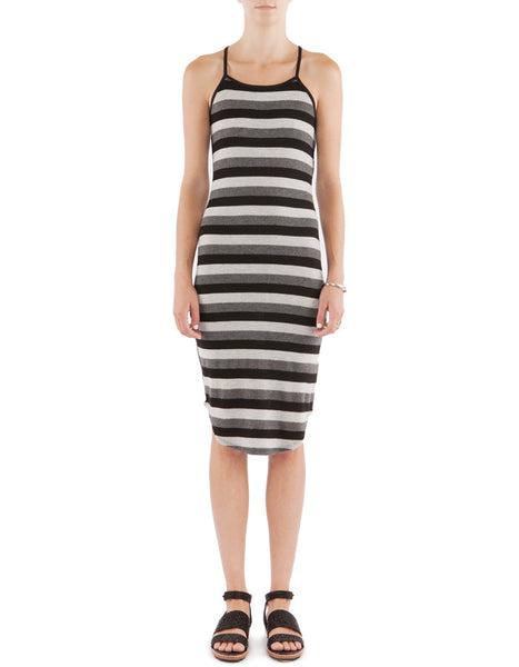 Jessie Dress Neutral Stripe
