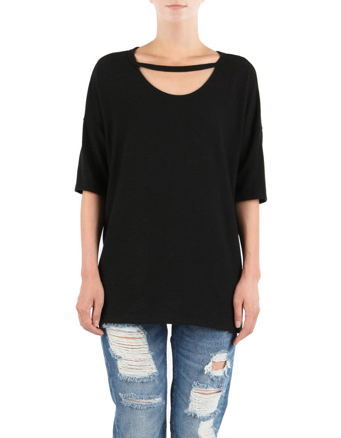 Geena Short Sleeve Real Black