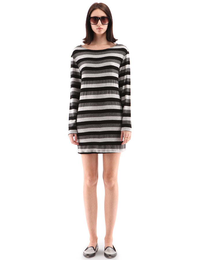 Stacy Dress Neutral Stripe