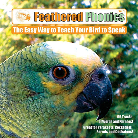 Feathered Phonics CD 1: Teach Your Bird or Parrot to Speak 96 Words & Phrases! - Pet Media Plus