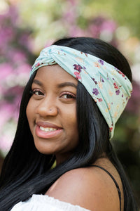 Pastel Floral Turban Headband, Pastel Head Wrap, Floral Headband- IN 3 COLOURS