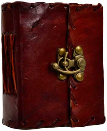 Handmade Small Leather Journal with Brass Latch