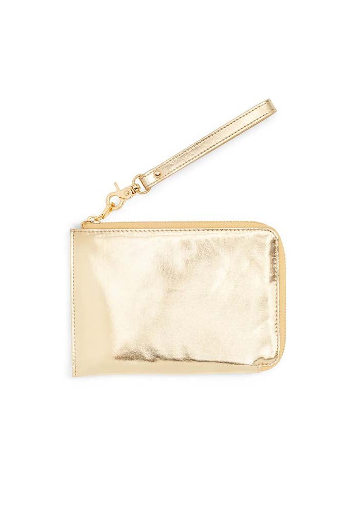 Metallic Getaway Travel Clutch