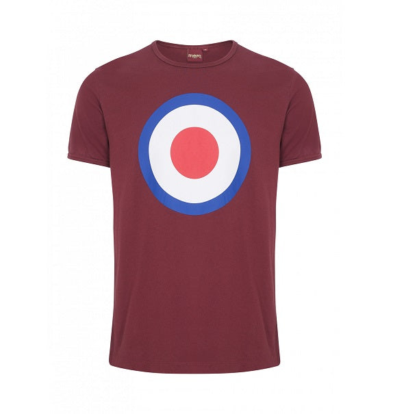 Merc Ticket T-Shirt - Burgundy - Merc - ModWear
