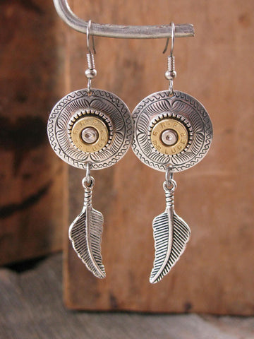 9mm Dreamcatcher Bullet Earrings II