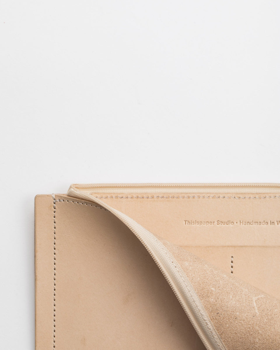 A7+ Leather Wallet Natural
