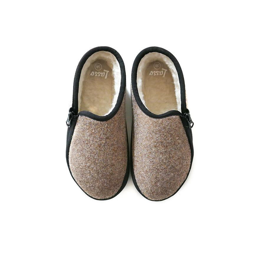 Lazy Lasso Slippers in Brown