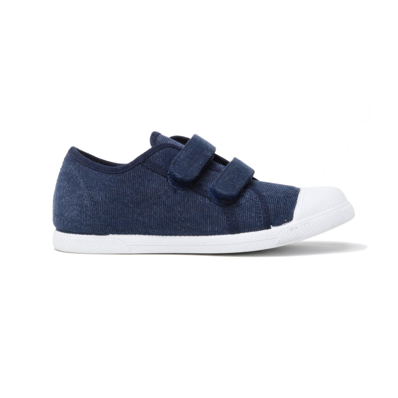 Kids' Childrenchic® double hook and loop sneakers in navy