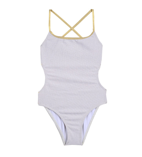 Girls' Sand Dunes & Gold Swimsuit