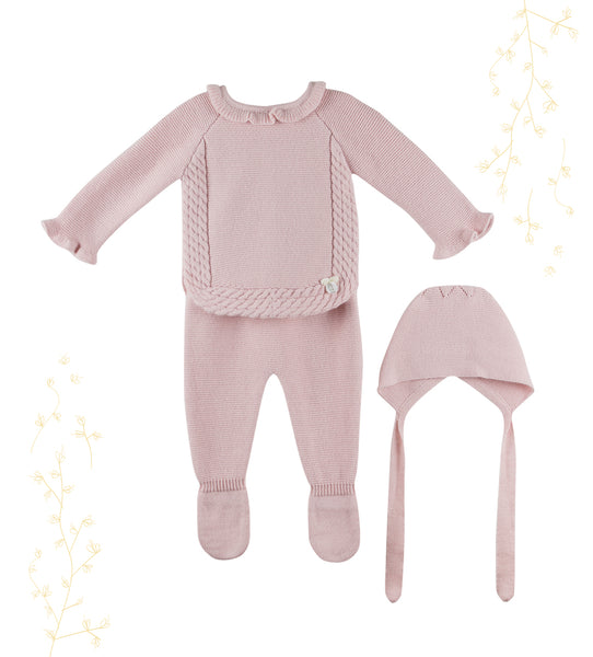 Pretty Rose Baby Girl 3-piece Set