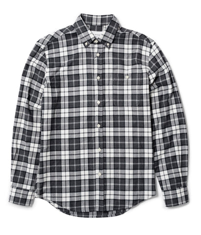 Black and Grey Tartan Button Down