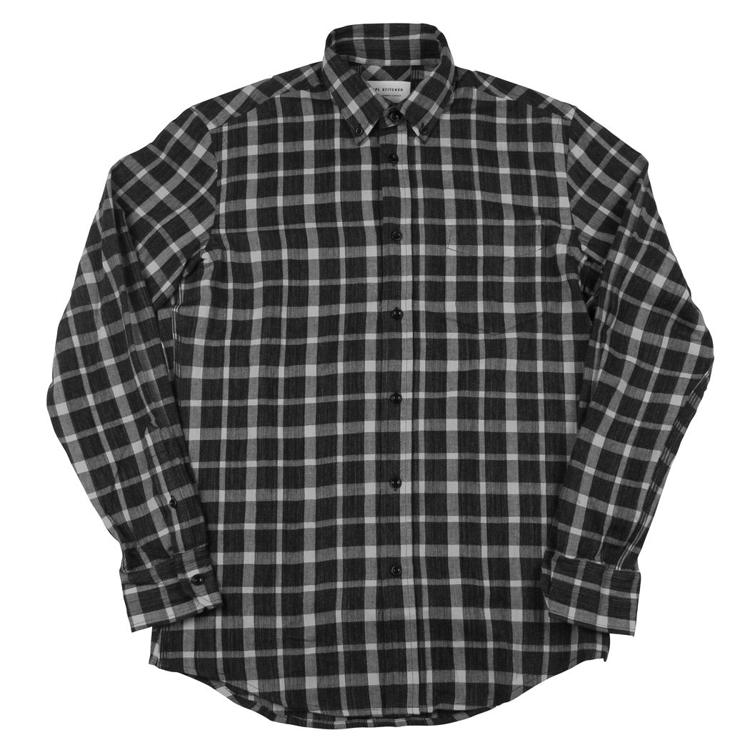 Button Down Shirt - Japanese Navy Small Check