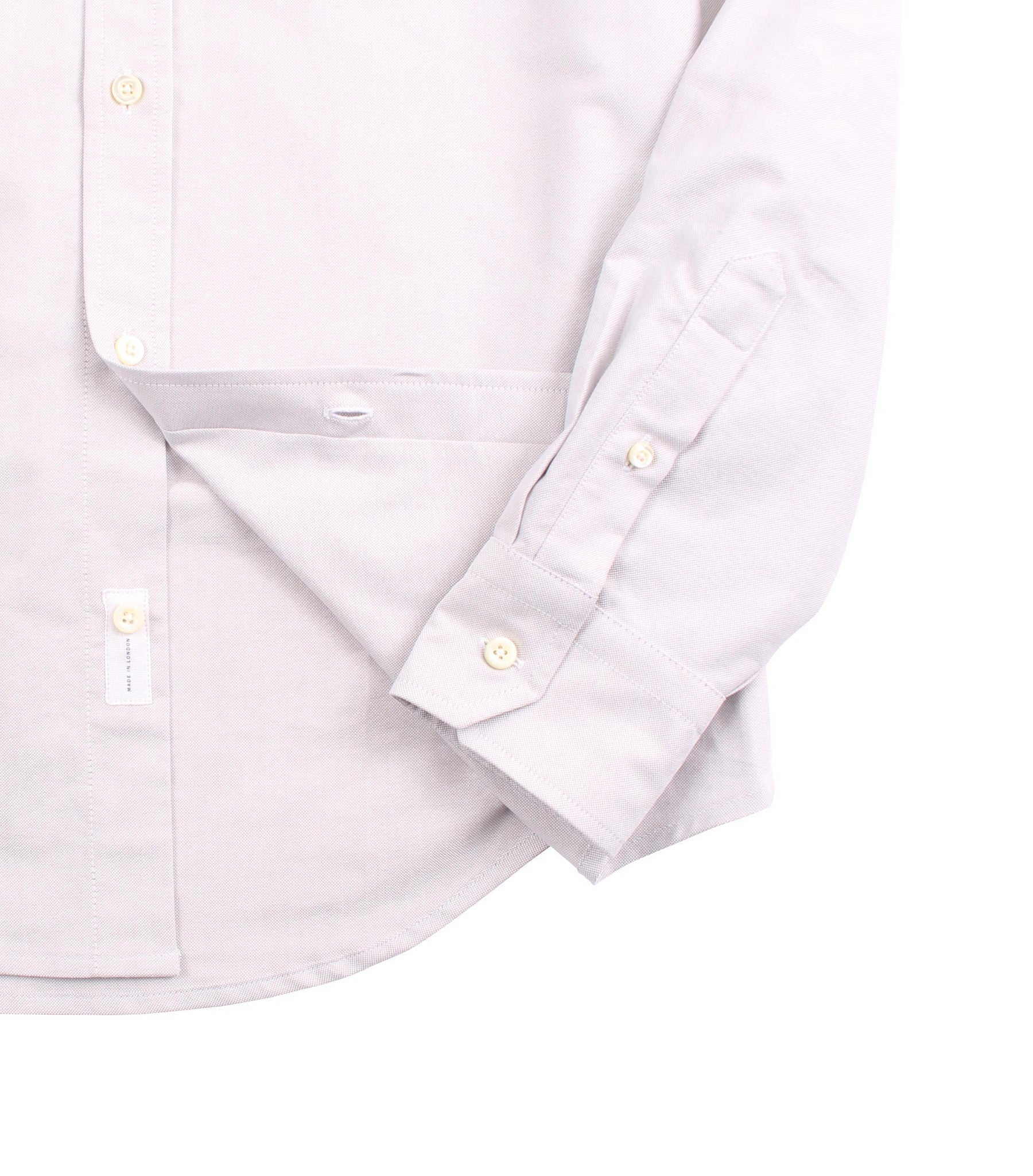 Classic Button Down - Silver Oxford