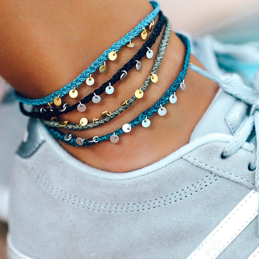 Mini Braided Coin Anklet Photo 8