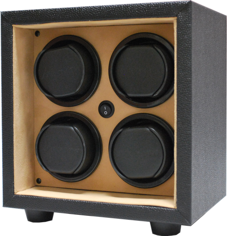 Orbita - Sparta InSafe 4 Black/Creme Vinyl | Rotorwind Watch Winder