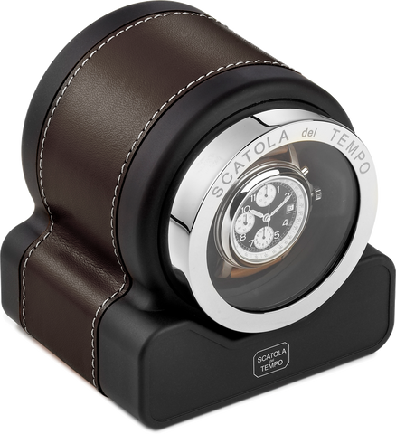 Dark Brown Scatola del Tempo Watch Winder