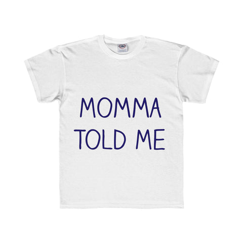 Momma Told Me Youth Regular Fit Tee - White / XS - Kids clothes
