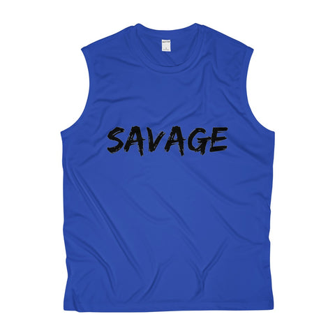 Savage Mens Sleeveless Performance Tee - True Royal / XS - Tank Top