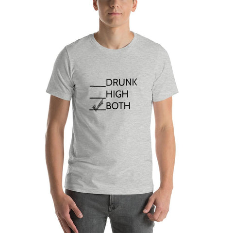 Drunk or High Short-Sleeve T-Shirt - Athletic Heather / S - T-Shirt