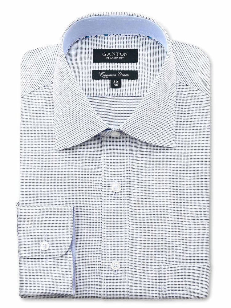 Blue White Check Classic Fit Paul Egyptian Cotton Shirt