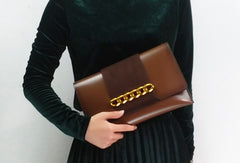 Genuine Leather Clutch Bag Purse Shoulder Bag for Women Leather Crossbody Bag