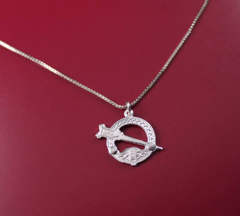Jewelry  - Celtic Necklace, Silver Irish Celtic Necklace.