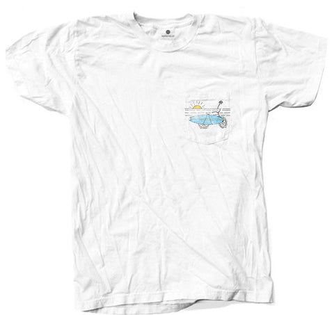 Beach Bike Pocket - White