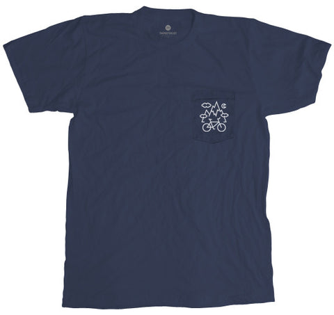 Mountain Bike Pocket Tee - Navy