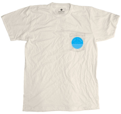 Ocean Is Calling Pocket Tee - Antique White