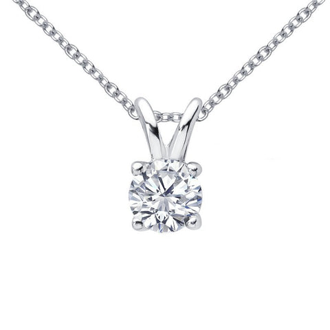 Diamond Soiltaire Pendant Necklace