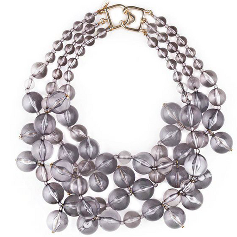 Grey Bauble Necklace