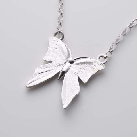 I still get butterflies necklace in silver