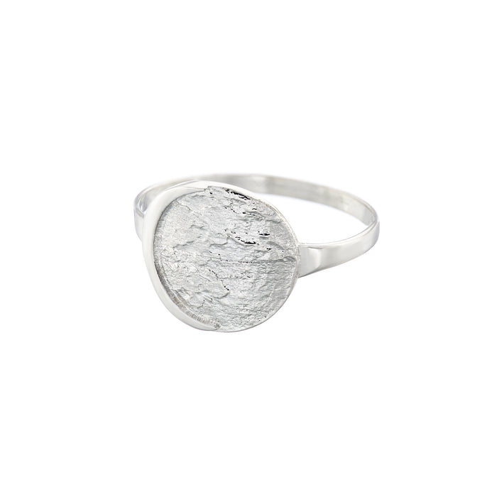 Night Moon Ring in Silver