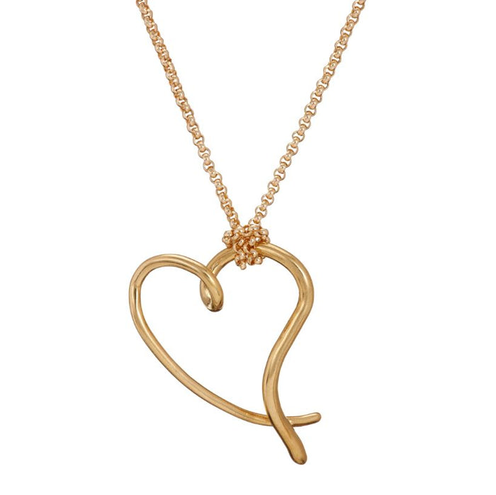 You have my heart large pendant in gold