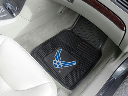 FanMats Air Force Heavy Duty 2-Piece Vinyl Car Mats 18x27