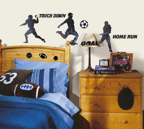 Sports Silhouettes Peel & Stick Wall Decals image