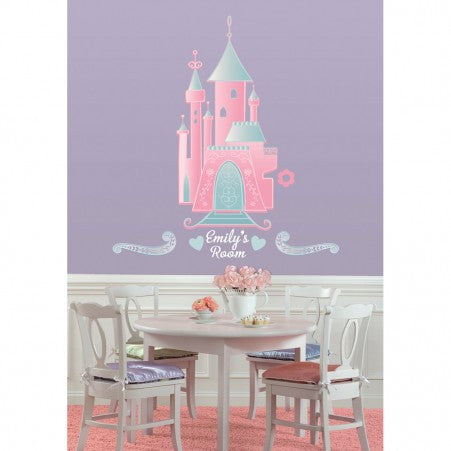 Disney Princess Castle Giant Wall Decal with Alphabet