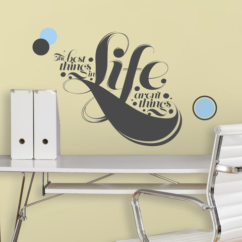 55 Hi's - The Best Things in Life Peel & Stick Giant Wall Decals image