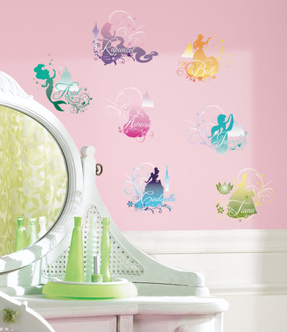 Disney Princess -  Silhouette Peel & Stick Wall Decals