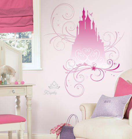 Disney Princess  - Scroll Castle Peel & Stick Giant Wall Decals w/Glitter