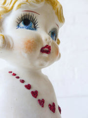 Little Miss Heart Wave - Vintage Japanese Bisque Doll