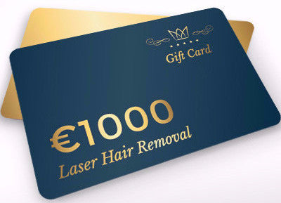 €1000 Laser Hair Removal Gift Card only €499! (Save €501)