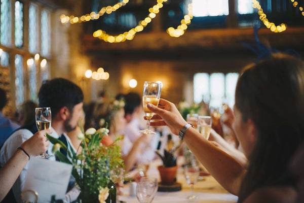 people toasting at wedding | How to Write a Maid of Honor Speech