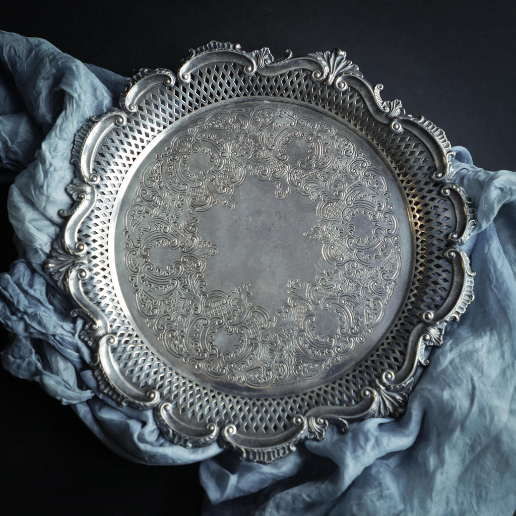 Silver Plated on Copper {Charger Tray}