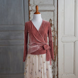 All Wrapped Up Velour Top (Women) - Dusty Pink (FINAL SALE - Size XXS Only)